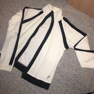 White velour Lululemon jacket